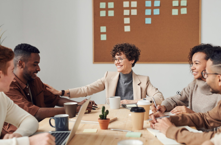 woman at the head of the table soft skills