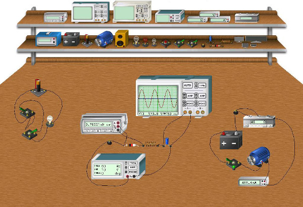 Simulation Software Workbench: Our Simulation software gives you a virtual workbench with all of the latest equipment.