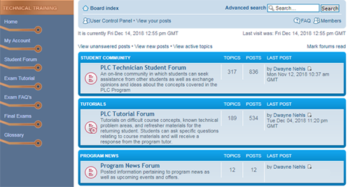 Image of GBC Technical Training Student Forums