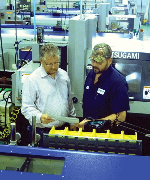 Mentoring photo at Metal Seal Precision Ltd.