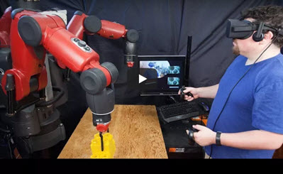 Operating Robots With Virtual Reality