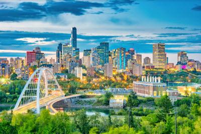 Skyline of downtown Edmonton