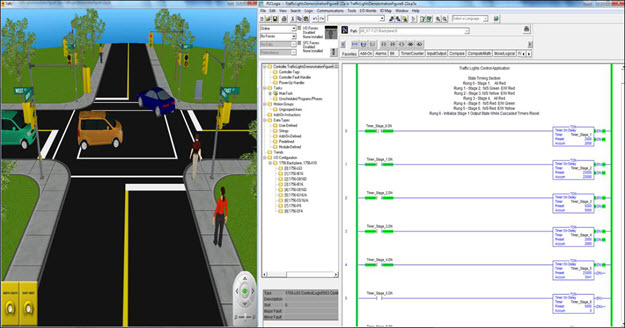 3DWorld Traffic Light Simulation