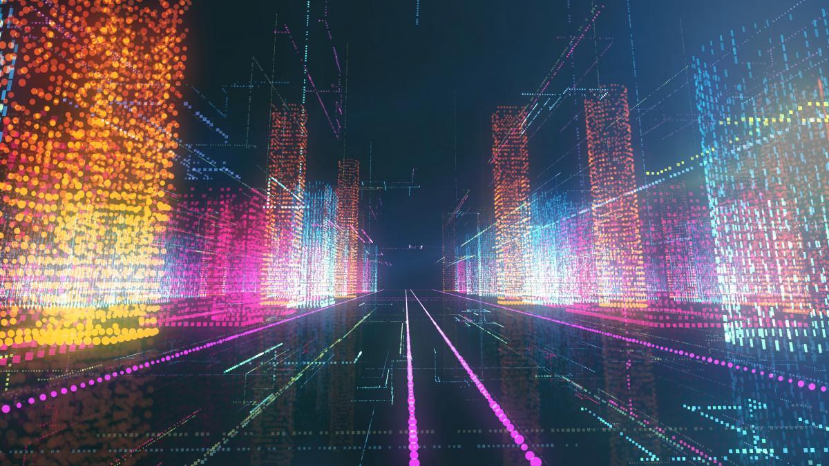 Pile of digital data