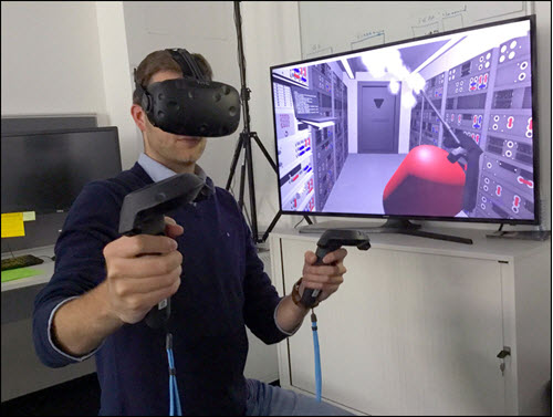 Man in VR training