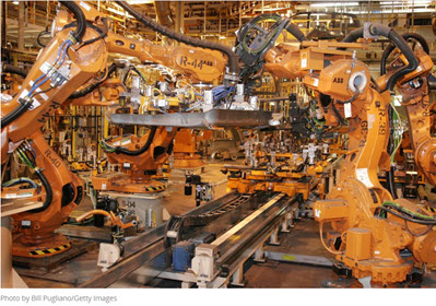 Robots on Manufacturing Floor